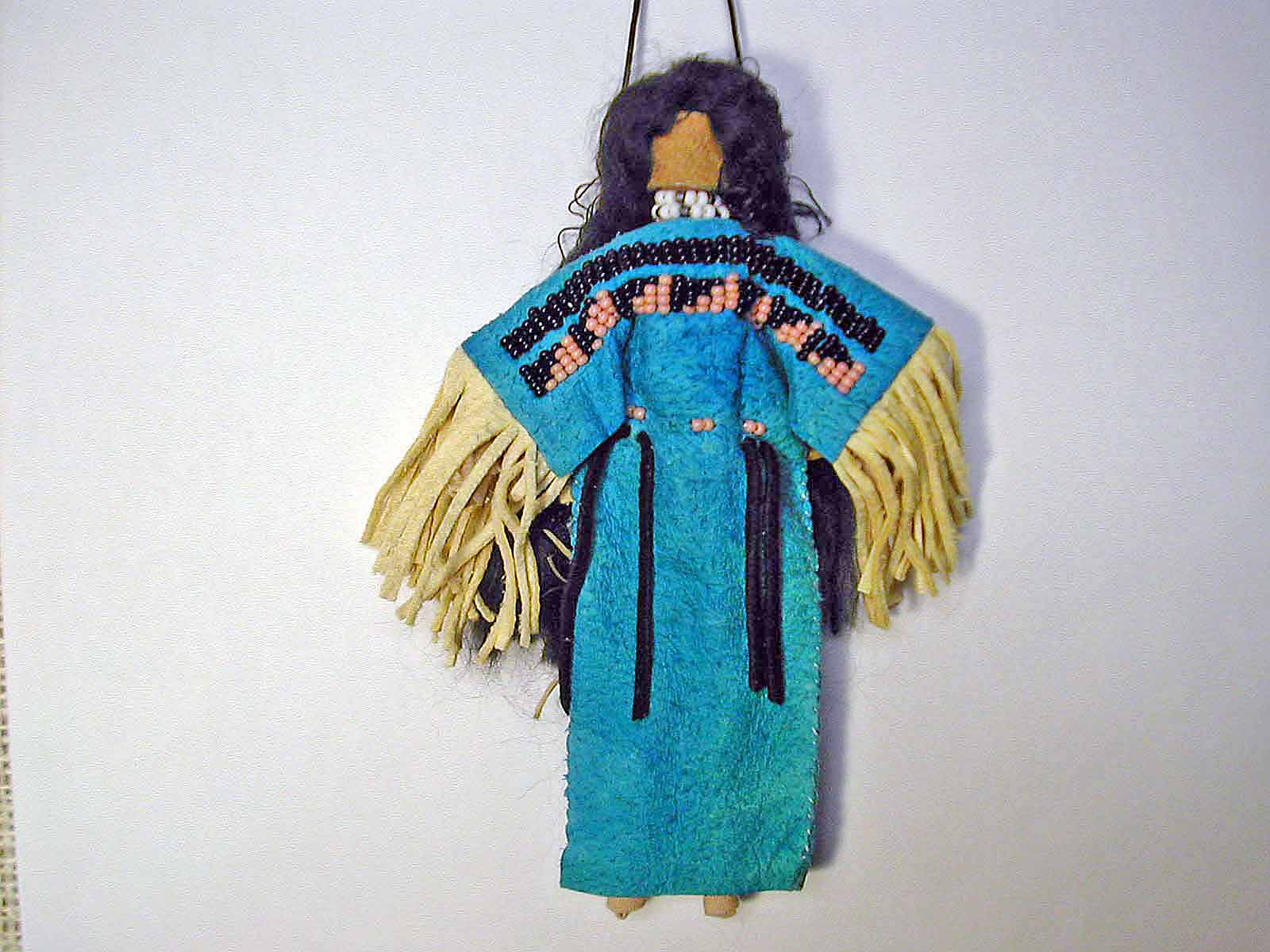 Native american ornaments - These Two Native American Indian Doll Ornaments Have Some Beading On The Front I Originally Designed And Created These Dolls A Few Years Back And Really